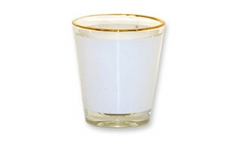 1 5oz Shot Glass with Gold Rim - ORCA Coating